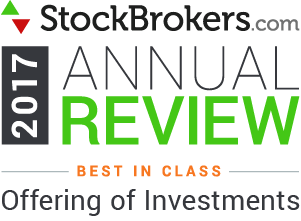 Interactive Brokers reviews: 2017 Stockbrokers.com Awards - Best in Class - Offering of Investments